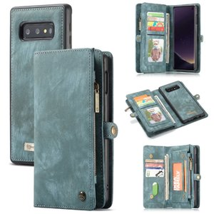 Wallet Case for Samsung Galaxy S10 Zipper Magnetic Phone Case Folio Flip Cover for Samsung S20 Plus A50 A70 A80 S9 S8 Note 9