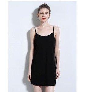 2020 Dress Summer New Style Hemp Cotton Medium-Length Sexy Suspenders Sleeveless Cool Fashion Nightgown Bottom Skirt