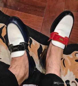 Erkekler Ünlü Ayakkabı Marka Mocassin Lüks Boş evlendikleri Walking için mükemmel Kalite Erkekler Elbise Oxfords Kırmızı Alt Monono Loafers Düz