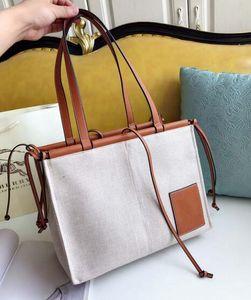 Newset Klassische Letters Segeltuch-Leder Einkaufstaschen Schultertasche Strandtasche Handtaschen-Frauen-Mama-Beutel-Kupplungs-Einkaufstasche Geldbeutel