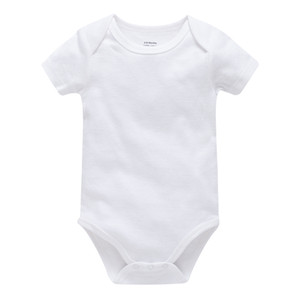 대량 구매 아기 장난 꾸러기 100 %면 흰색 아기는 신생아 소년 소녀 바디 수트 드 bebes 의류 OEM ODM을 바디 수트