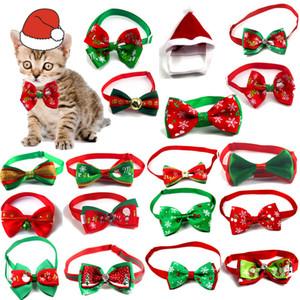 Vacances de Noël Chien Chat Collier Noeud papillon Toilettage pour chien chat cou réglable Accessoires sangle Pet Supplies Produit de Noël cny1823