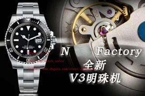 2019 los últimos productos de la fábrica N 116610 116619 V3 perla 2813 el movimiento de 40 mm de línea de zafiro reloj de los hombres de alta calidad 2 estilo super luminosa