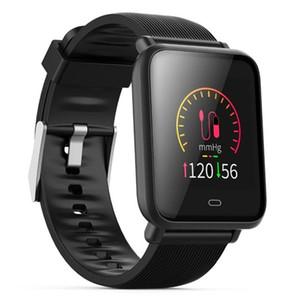 """Q9 montre intelligente hommes femmes 1.3 """"IPS Fitness Tracker Podomètre Santé Fréquence Cardiaque Pression Sanguine Smartwatch Pour Android IOS"""
