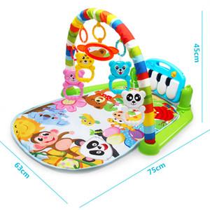 3 em 1 jogo do bebê Mat Rug Toys Kid Crawling Música Jogo Tocar Desenvolver Mat com teclado de piano Educação Infantil Tapete cremalheira Toy CJ191216