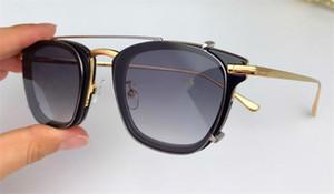 Le nouveau concepteur de lunettes de soleil mode 5496 monture carrée double lentille amovible lunettes optiques et lunettes de soleil haut style série qualité pour les hommes