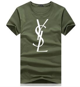 Venta caliente de los hombres clásicos diseñadores camiseta de manga corta del cuello de O hombre de la camiseta de algodón Tops para mujer Marca camiseta más el tamaño S- 4XL sudaderas