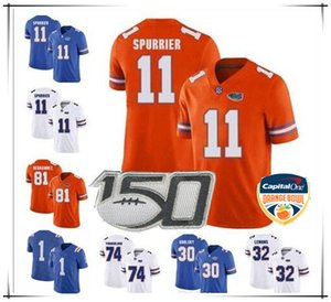 Individuelle Florida Gators 81 Aaron Hernandez 5 Emory Jones 11 Steve Spurrier 6 Jeff Driskel Tim Tebow Franks College-Trikots 2020 Orange Bowl