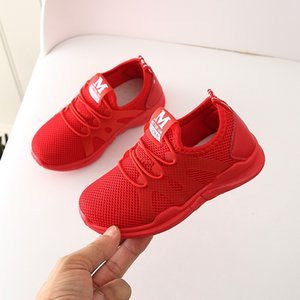 2020 New Sale Mesh Sport Run Sneakers Casual Shoe Fashionable Children Infant Kids Baby Girls Boys Letter Kids shoes Breathable