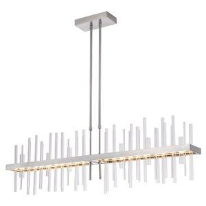 Modern Nickel Metal Glass Pendant Light Chandelier Decoration Home Living Room Restaurant Villa Ceiling Light PA0690