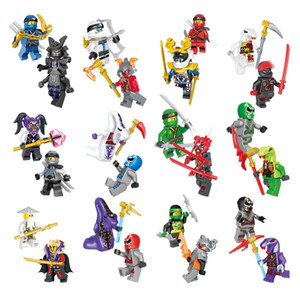 24 pcs Lot Mini Ninja Toy Action Figure Building Blocks fantasma do mal Ninja Pythor Chop'rai Mezmo Exército Serpentine