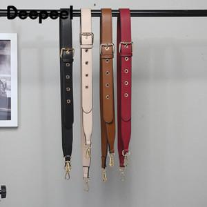 Deepeel 1pc 3.2 * 105-120cm femmes en cuir véritable épaule large Bracelet en métal Ardillon réglable Remplacement Croix diagonale Ceinture