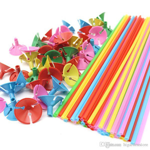 32cm colorful Balloon Accessories Balloon Holder Sticks with cups Thickening high quality Party Supplies Decoration