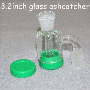14mm 18mm Reclaim Adaptateur Catcher ashcatcher verre Ash Catcher percolateur pour Bong narguilés avec des conteneurs de 4 mm quartz Banger silicone 7ml