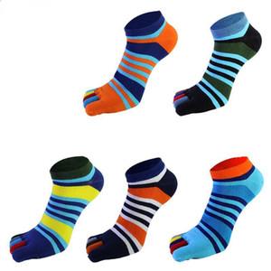 5 Paare / lose Sommer neue Herren Socken Baumwolle Fünf Finger Socken Casual Toe Atmungs Knöchel Für Männer