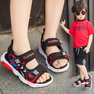 Chicos nuevos Sandalias de verano Zapatillas de deporte para niños Zapatillas de playa antideslizantes Estudiantes Casual Zapatos para caminar Moda Zapatos planos suaves Size26-36