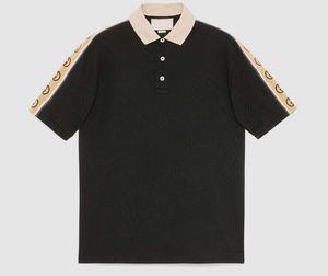 20SS лето Дизайнерские рубашки поло Мужчины поло Повседневная Мужчины поло Рубашка G нашивки письмо Версия для печати Вышивка Мода High Street Mens Polos