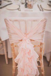2020 블러쉬 핑크 프릴이 의자는 빈티지 로맨틱 의자 띠 아름다운 패션 웨딩 파티 생일 장식 커버