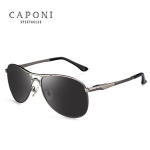 Caponi Driving Photochrome Sonnenbrille Men Polarized Chameleon Discoloration Sonnenbrille für Herren oculos de sol masculino RB8722