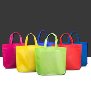 1 unid bolsa de compras ambiental reutilizable plegable no tejido bolsa de asas casual bolsa de almacenamiento de comestibles de alta capacidad