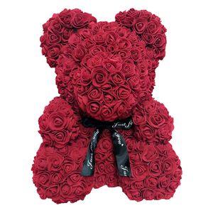 24 stücke 40cm Bär von Rosen Künstliche Blumen Home Hochzeit Festival DIY Billig Hochzeit Dekoration Bestes Geschenk für Weihnachten Valentine Amazzz