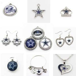 Fèves US Football Équipe Charms Cowboys Dangle Sport Bracelet bricolage collier pendentif bijoux Charms suspendus