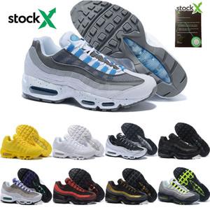 nike air max 95 shoes gros Hommes Femmes Triple Blanc Noir Chaussures De Course de luxe hommes Solaire Rouge Néon Jaune Grape Sport En Plein Air Jogging Trainer Sneaker Chaussures