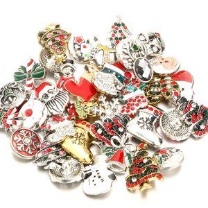 2019 Boutons strass NOOSA Noël Snap Snap Pour Bracelet bricolage bouton pression 18mm Collier Bijoux cadeau