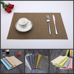 Placemats Yıkanabilir PVC Masa Mat bulaşığı Pad Isı Yalıtımı Çay Çay Yeri Mat Yemek Masa Mat
