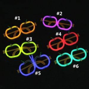 Novo Apple óculos fluorescentes Brilho de Natal adereços partido wireless vara luminescentes brinquedos fluorescentes infantis LED light sticks T2G5031