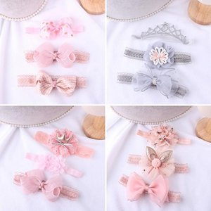 Kids Headband Lace Bows Hairband Elastic Crown Children Toddler Turban Hair Accessories For Girls Haarband