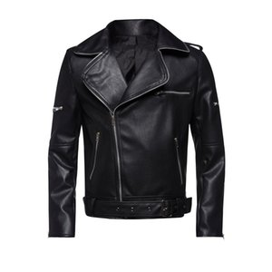 New Sping Men's PU Leather Jacket For Men Fitness Fashion Male Suede Jacket Casaco Masculino Casual Coat Male Clothing