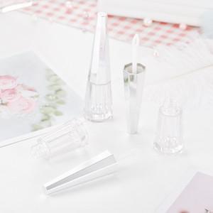 실버 뚜껑 집에서 만든 입술 유약 리필 병은 투명 립글로스 패키지를 비우기로 4 ㎖ 립글로스 튜브