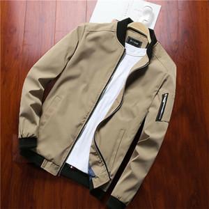 Autunno Moda Uomo cappotto solido Safari Style 2019 manica lunga da uomo Slim Fit Cargo cappotto del rivestimento delle parti superiori Outwear soprabito