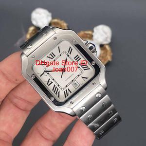 2018 Hombres de lujo de acero inoxidable Reloj 2813 Movimiento automático Mecánico Caja de plata Remaches Pulsera Hombres Deportes Corchete original Relojes de pulsera