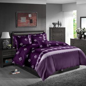Violeta cama Set moda de luxo do clássico 3D edredon cobrir coroa Rainha Rei gêmeo completa Individual Duplo macia Bed Cubra com fronha
