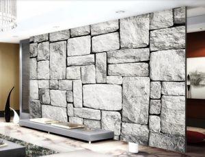 papel de parede moderno para roomv vida Retro TV fundo da parede de papéis de parede de tijolos de pedra