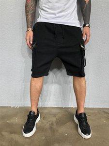 Shorts Pants grandes bolsos cor sólida Tamanho do Joelho calças cargo Casual Mens Vestuário Mens Designer de Verão