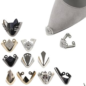 10 PCS lot Pointed Shoes Protection Shoes Repair Broken Tip Set Of Hollow Out Grain Metal Head Cover Repair Parts