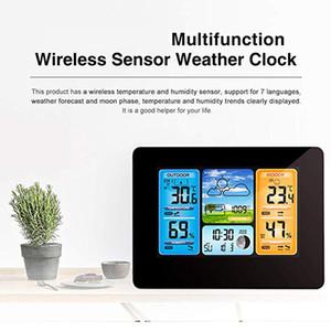 KALAIDUN Weather Station Thermometer Hygrometer Barometer LCD Digital Alarm Clock Weather Forecast Temperature Humidity Meter