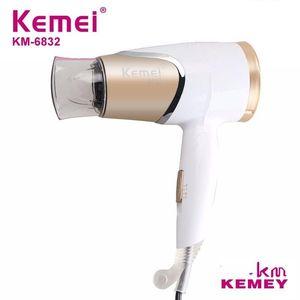Kemei new product KM-6832 flat long set air nozzle hair dryer four gear folding mini hair dryer free shipping