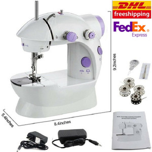 2020 New Mini Sewing Machine Portable LED Electric Sewing Kit with Dual Speed Double
