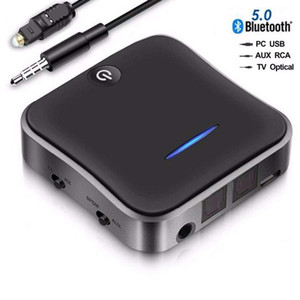 Bluetooth 5.0 Transmitter and Receiver 2 in 1 AptX Low Latency Digital Optical and 3.5mm BT audio SPDIF Wireless adapter aux and RCA TOSLINK