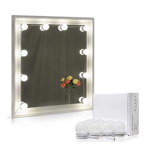 Mirror headlight led cosmetic mirror bulb beauty decoration studio bathroom stepless dimming 10 lights fill light 10171