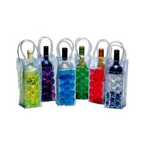 De hielo del refrigerador de vino PVC cerveza bolso más fresco al aire libre de hielo del gel bolsa de picnic fresco de Sacks enfriadoras congelado bolsa de enfriador de botellas FFA3744