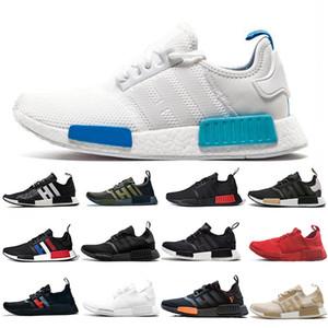 Adidas NMD Runner R3 R1 V2 Running Shoes Primeknit Triplo preto Branco Bee NMD tênis para Homens Mulheres OREO NMDS Runner esportes tênis EUR 36-45