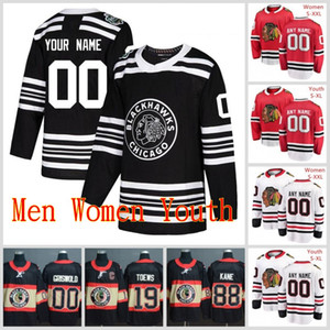 Hommes Femmes sur mesure jeunesse Chicago Blackhawks 2 Duncan Keith 19 Jonathan Toews 88 Patrick Kane 81 Marian Hossa 7 Brent Seabrook Maillots S-3XL