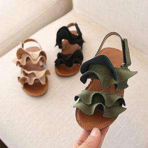Дети Девушки Сандалии летние ребёнки малышей сандалии принцесса обувь для малышей сандалии девушки младенца Сандал тапочки