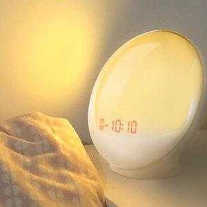 Titiroba Alarm Clock Wake Up Light Digital Snooze Nature Night Lamp Clock Sunrise Colorful Light With Nature Sounds Fm Радио