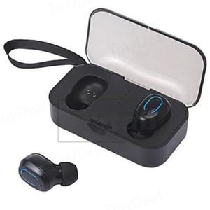 T18S TWS 5.0 Écouteurs sans fil Bluetooth Basse Portable Stéréo Sport Écouteurs W / 400mAh Boîte de Recharge Rechargeable LED Indicateur de Charge